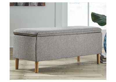 Caviton Gray Accent Bench,Signature Design By Ashley