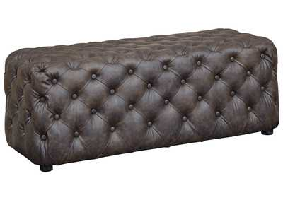 Image for Lister Brown Accent Ottoman