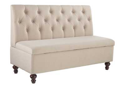 Image for Gwendale Light Beige Storage Bench