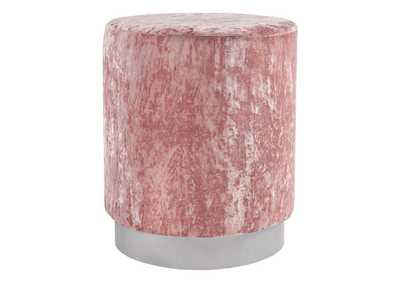 Image for Lancer Blush Pink Accent Ottoman