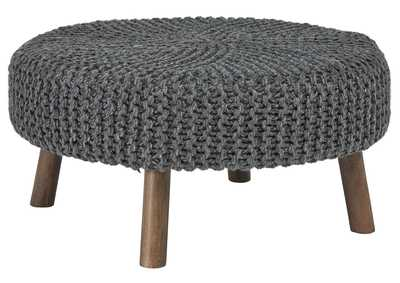 Image for Jassmyn Charcoal Oversized Ottoman