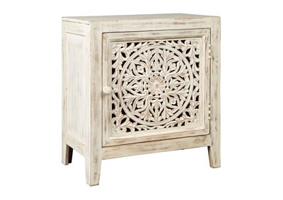 Fossil Ridge White Accent Cabinet,Signature Design By Ashley