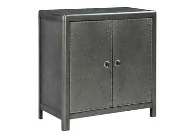 Image for Rock Ridge Aged Steel Door Accent Cabinet