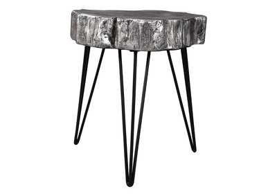 Image for Dellman Antique Silver Finish Accent Table
