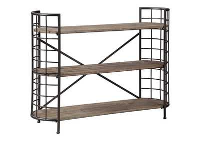 Flintley Brown/Gunmetal Bookcase