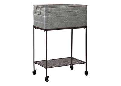 Vossman Antique Gray/Brown Metal Beverage Tub