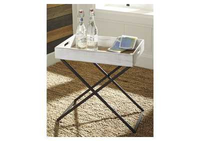 Janfield Antique White Accent Table,Signature Design By Ashley