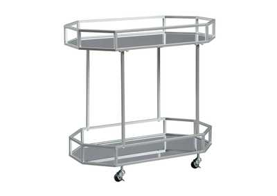 Kadinburg Silver Bar Cart,Signature Design By Ashley