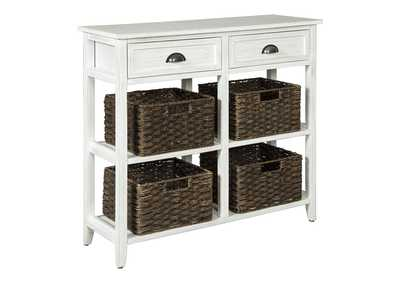 Image for Oslember White Console Sofa Table