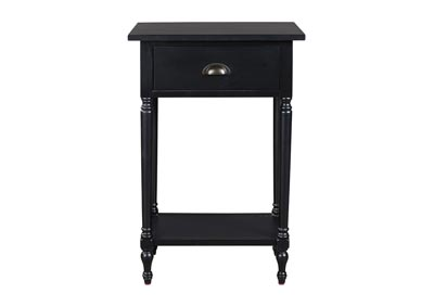 Juinville Black Accent Table