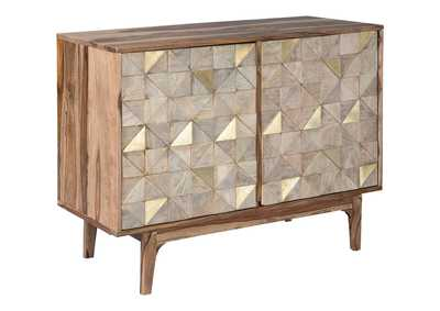 Carolmore Brown/Gold Accent Cabinet