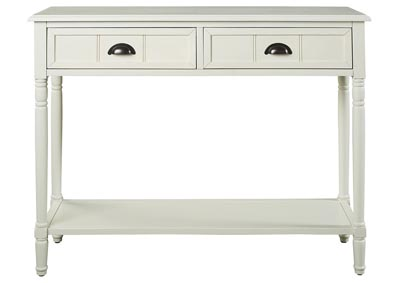 Image for Goverton White Console Sofa Table