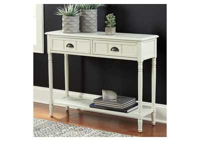 Image for Goverton White Sofa Table