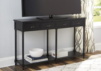 Eirdale Black Console Sofa Table,Signature Design By Ashley