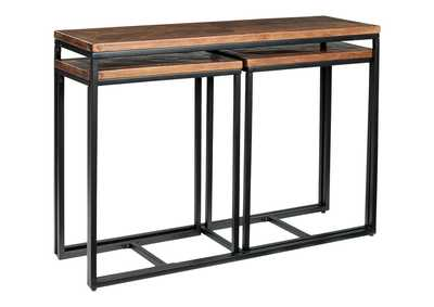 Image for Jadenley Brown/Black Console Table (Set of 3)
