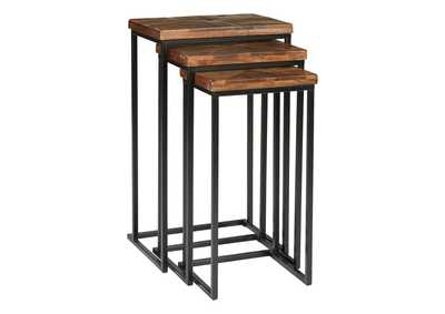 Image for Cainthorne Brown/Black Accent Table (Set of 3)