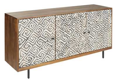 Image for Kerrings Brown/Black/White Accent Cabinet
