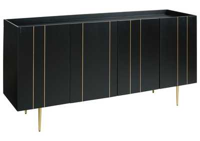 Image for Brentburn Black/Gold Accent Cabinet