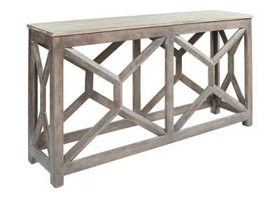 Image for Lanzburg Antique Gray Console Table