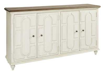 Image for Roranville Antique White Accent Cabinet