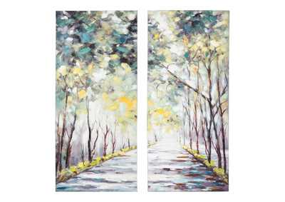 Image for Donagh Green Wall Art Set (Set of 2)