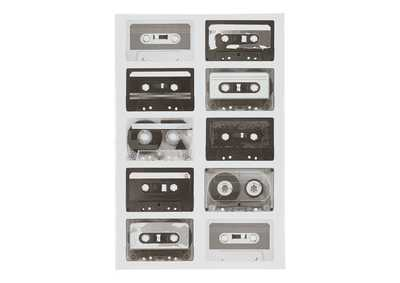 Peers Black/White Music Cassette Wall Art