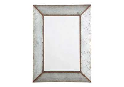 O''Tallay Antique Gray Accent Mirror