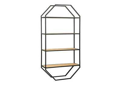 Image for Elea Black/Natural Wall Shelf