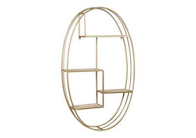 Image for Elettra Natural/Gold Finish Wall Shelf