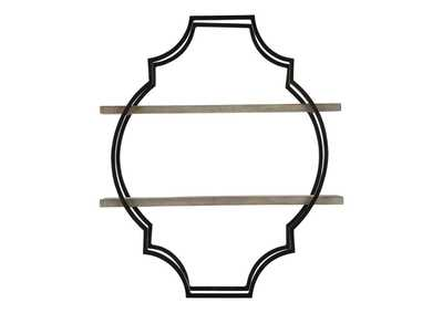 Image for Candon Antique Gray/Black Wall Shelf