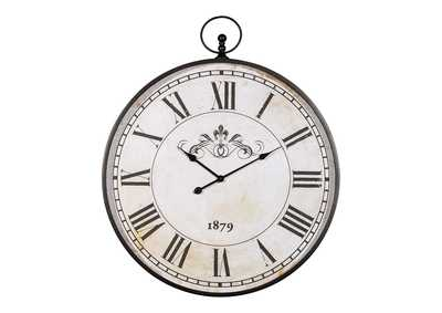 Image for Augustina Antique Black Wall Clock