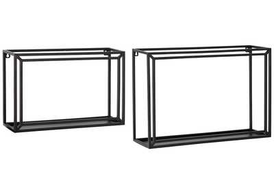 Ehren Black Wall Shelf (Set of 2)