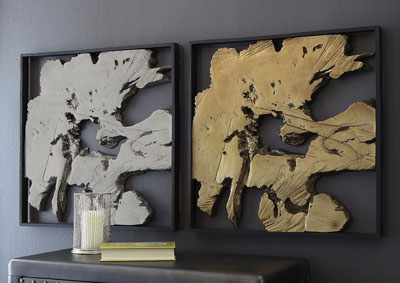 Fabiana Black/Gold Finish Wall Decor,Signature Design By Ashley