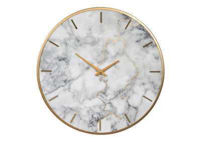 Image for Jazmin Gray/Gold Finish Wall Clock