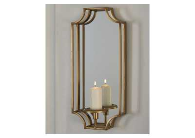 Dumi Gold Finish Wall Sconce,Signature Design By Ashley