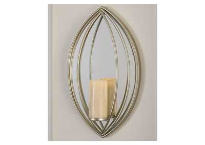 Donnica Silver Finish Wall Sconce,Signature Design By Ashley