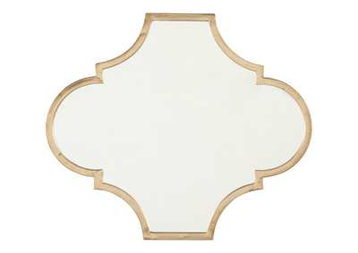 Image for Callie Gold Finish Accent Mirror