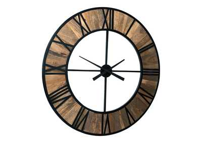 Image for Byram Natural/Black Wall Clock