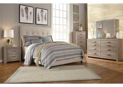 Dolante Beige Queen Upholstered Bed,Signature Design By Ashley