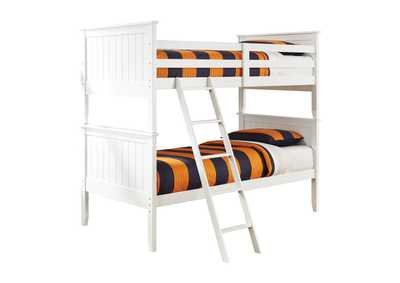 Image for Lulu White Twin/Twin Bunk Bed