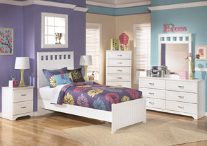 Image for Lulu Twin Panel Bed, Dresser & Mirror