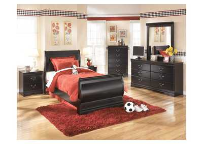 Image for Huey Vineyard Twin Sleigh Bed, Dresser & Mirror