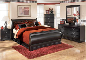 Image for Huey Vineyard Queen Sleigh Bed, Dresser & Mirror