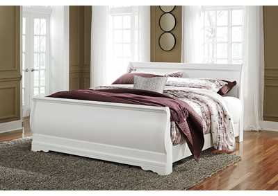 Image for Anarasia White King Sleigh Bed