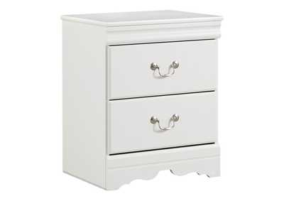 Image for Anarasia White Two Drawer Night Stand