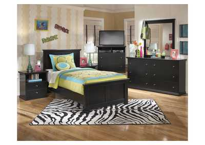 Maribel Twin Panel Bed, Dresser & Mirror