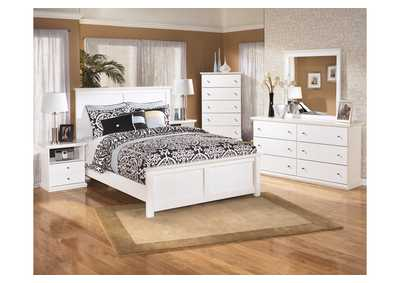 Image for Bostwick Shoals King Panel Bed, Dresser, Mirror, Chest & Night Stand