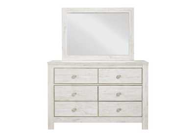 Paxberry Whitewash Dresser and Mirror