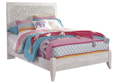 Image for Paxberry Whitewash Full Panel Bed