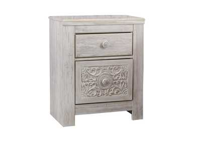 Paxberry Whitewash Two Drawer Nightstand,Signature Design By Ashley